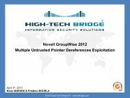 Novell GroupWise Untrusted Pointer Dereference Exploitation