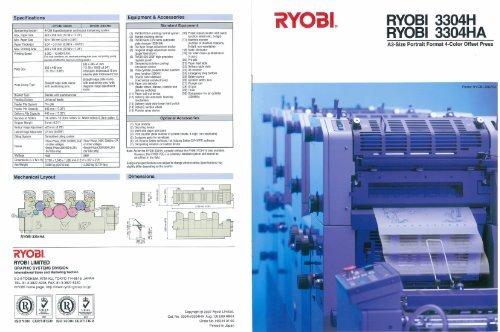 Product information: Ryobi 3304H 3304HA - Ferrostaal Inc