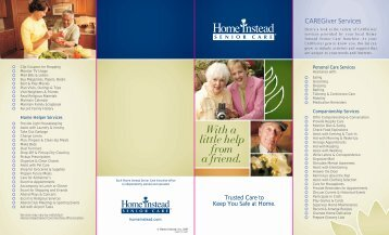 CAREGiver Services - Home Instead Senior Care