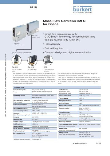 Mass Flow Controller (MFC) for Gases - topvs1