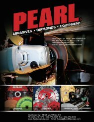 Pearl Abrasives Catalog, from Best Materials