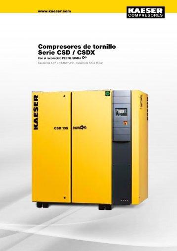 Compresores de tornillo Serie CSD / CSDX - Kaeser - Kaeser ...