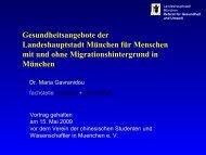 Dr. Maria Gavranidou Referat für Gesundheit und Umwelt