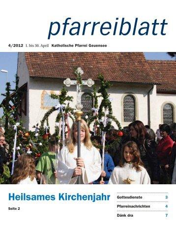 pfarreiblatt_12_04 - Pfarrei Geuensee