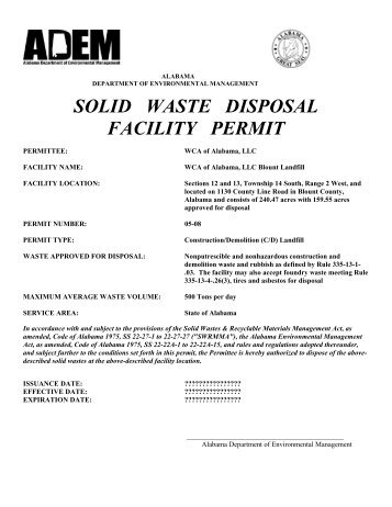 solid waste planning an ddisposal