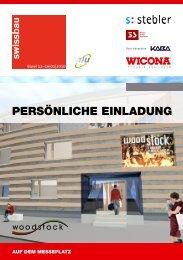 PERSÖNLICHE EINLADUNG - Wicona.ch