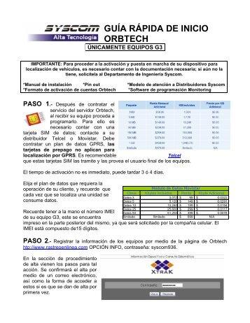 GUIA DE INICIO – ORBTECH - Syscom