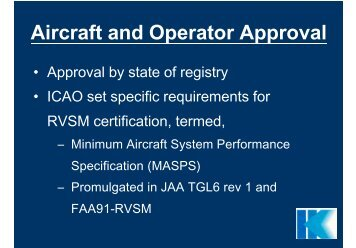 RVSM - Aircraft & Operator Approval