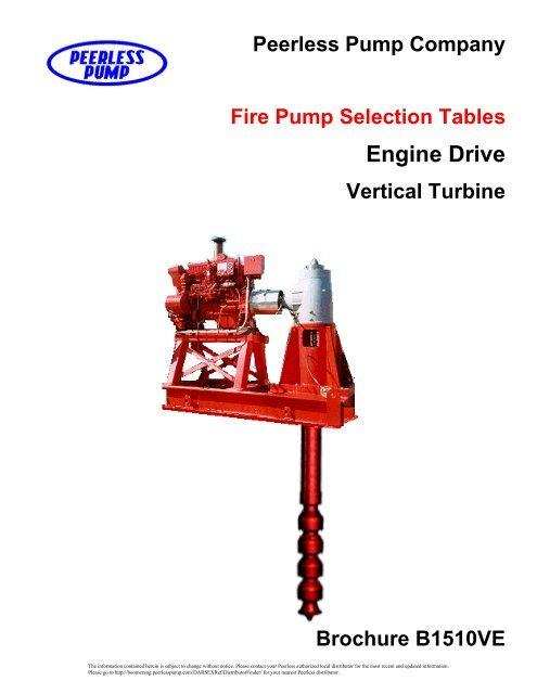 Brochure B1510 Diesel Drive Vertical Turbine Fire