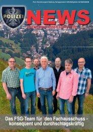 Polizei News 3_2014 Salzburg, Klubmagazin der Exekutive FSG