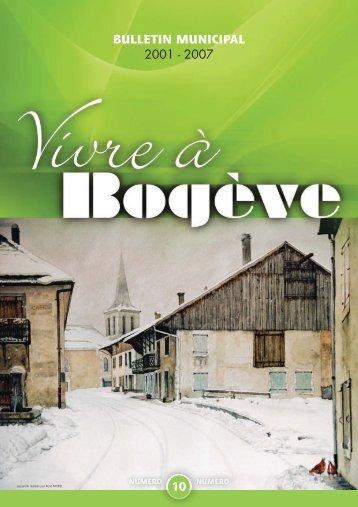 Bulletin municipal 2001-2007(1/2) - Mairie de Bogève