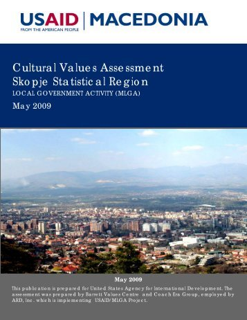 Skopje Regional Economic Development Plan - Barrett Values Centre