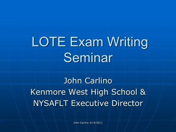 PowerPoint - New York State Association of Foreign Language ...
