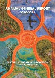 annual general report annual general report - Casey North CISS