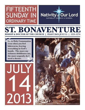 July 14, 2013 - Nativity of Our Lord Catholic Church