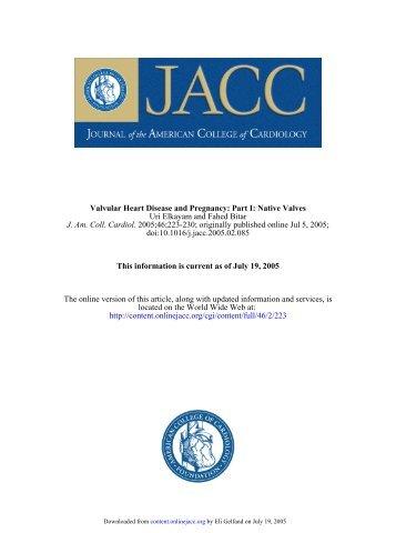 Valvular disease and pregnancy - native valves