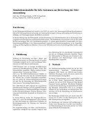 Simulationsmodelle für Kfz-Antennen zur Bewertung der Stör ...