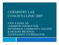 CHEMISTRY LAB COACH'S CLINIC 2007