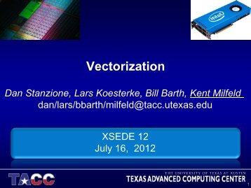 Vectorization - XSEDE