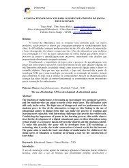 O uso da tecnologia X3D para o desenvolvimento de ... - cinted/ufrgs