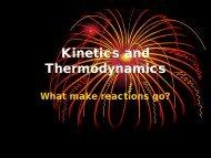Kinetics and Thermodynamics PowerPoint