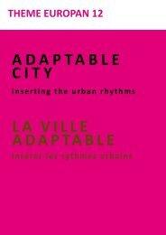 LA viLLe AdAptAbLe - Ministère du Développement durable