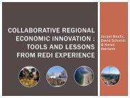 Collaborative regional economic innovation