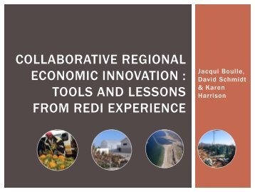 Collaborative regional economic innovation