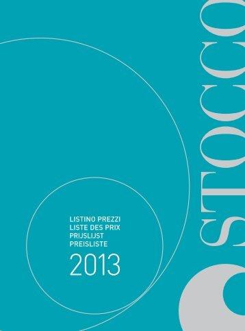 Stocco Preisliste 2013 - Duschking