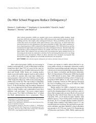 Do After School Programs Reduce Delinquency? - Criminology and ...