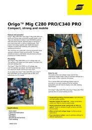 Origo™ Mig C280 0 PRO/C340 PRO