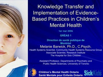 Knowledge Transfer and Implementation of Evidence-Based ...