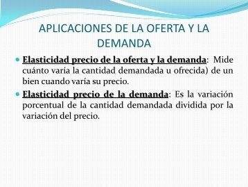 APLICACIONES DE LA OFERTA Y LA DEMANDA - Bligoo.com