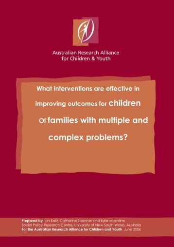 Of families with multiple and complex problems? - Social Policy ...
