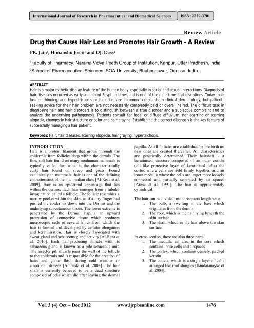 Drug that Causes Hair Loss and Promotes Hair Growth - A Review