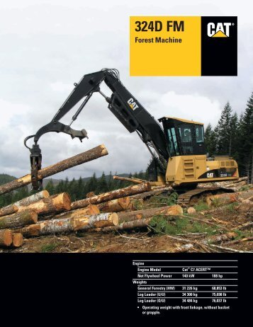 Specalog for 324D FM Forest Machine, AEHQ5915-02