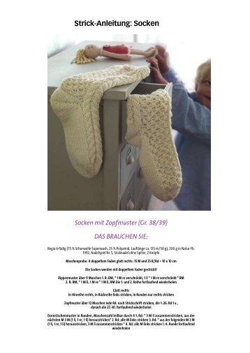Strick-Anleitung: Socken - Wunderweib