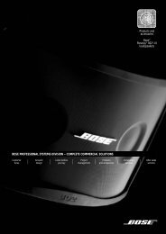 bose professional systems division