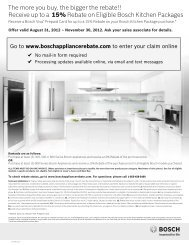 Receive up to a 15% Rebate on Eligible Bosch ... - Gotoapd.Com