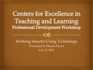 Working Smarter Using Technology