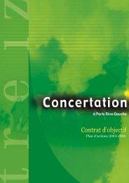 Contrat d'objectif Concertation à PRG - Paris Rive Gauche