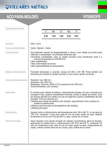 VP20ISO-FS - Villares Metals