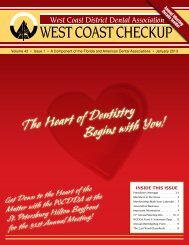 January 2013 - West Coast Dental Association
