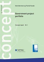 Project portfolio management. Estimating ... - Concept - NTNU