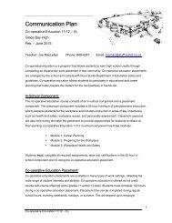CO-OP Education 11/12 - Joe MacLellan