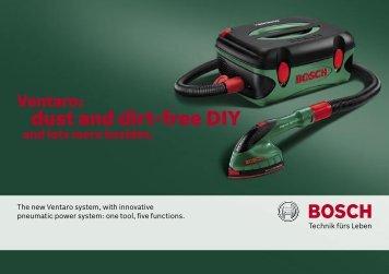 dust and dirt-free DIY - Bosch