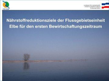 Maßnahmen zur Reduzierung der Nährstoffbelastung - FGG Elbe