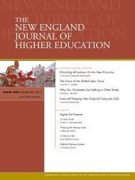 new england journal of higher education - New England Board of