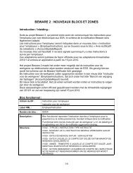 Nieuwigheden glossarium Beware in datum van 15 juni 2012 (fr-nl)