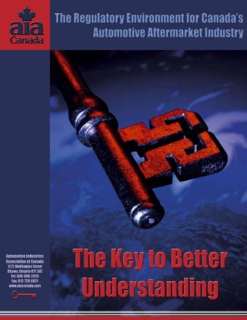 Regulatory Environment for Canada's Automotive Aftermarket Industry